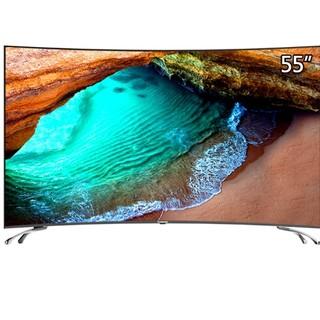 历史低价 : CHANGHONG 长虹 55D3C 55英寸 曲面 4K液晶电视