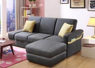 A家家具 ADS-028 小户型布艺沙发床 三人位+脚踏