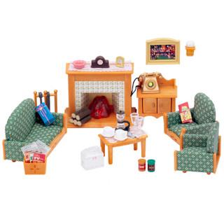 森贝儿家族日本品牌公主玩具女孩娃娃屋仿真森林家族过家家场景商店房子-客厅壁炉套SYFC29598