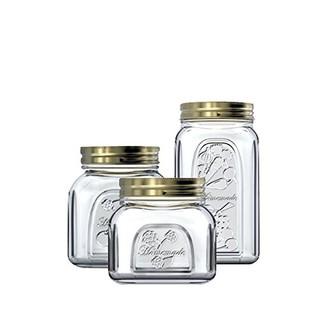 Pasabahce 帕莎 土耳其进口密封罐300ml+500ml+1000ml 欧式玻璃密封罐密封瓶茶叶罐储物罐奶粉罐家用