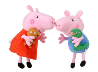 Peppa Pig 小猪佩奇 一家四口玩偶 大号套装 30cm+46cm