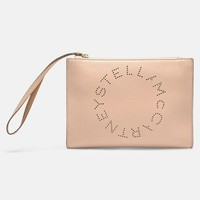 STELLA McCARTNEY Stella Logo 生态仿牛皮手拿包