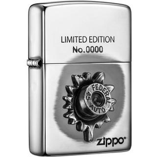 ZIPPO 之宝 ZBT-3-180b 守护安东尼 氧化镜面镀银 打火机 银色