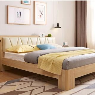 林氏木业 BR5A-A 北欧主卧双人床 1.5米