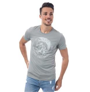 DIESEL 男士纯棉圆领T恤