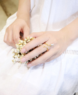 十口二冂 玫瑰花分色镀金戒指