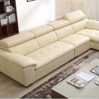 ZUOYOU 左右 ZY5001-1  真皮沙发组合转二件正向+休单(A1002米黄色)