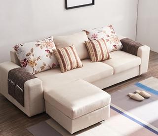 A家家具 DB1528 布艺沙发组合 三人位+脚踏