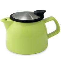 FORLIFE 贝尔 陶瓷茶壶配滤茶器 470ml 柠檬绿