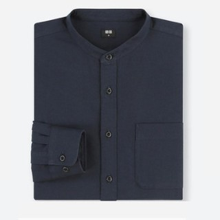 UNIQLO 优衣库 406591 男士斜纹立领衬衫