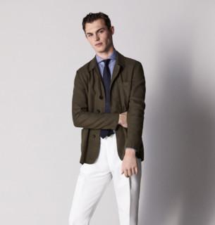 Massimo Dutti  02027086505 男士亚麻衬衫式外套