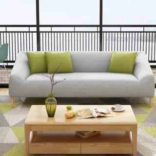 忆斧至家 北欧可拆洗布艺沙发 三人位  200* 85*70cm
