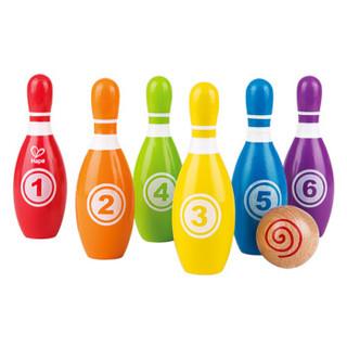 Hape 益智玩具 儿童彩虹保龄球 3岁以上 E8348 户外趣味木制儿童玩具 +凑单品