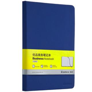 Comix 齐心 A5 122张优品商务笔记本子 蓝色 C5902 *19件