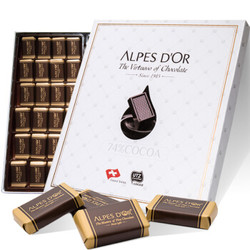 Alpes d'Or 爱普诗 74%纯可可脂 瑞士黑巧克力 210g *2件