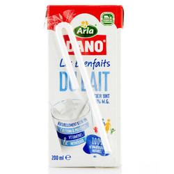 Arla Dano 阿拉丹 全脂纯牛奶 200ml*24盒 *3件