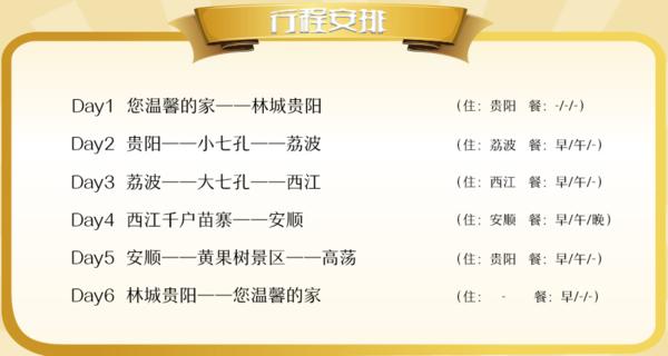 贵阳-贵州黄果树+荔波+西江千户苗寨6天5晚跟团游