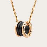 BVLGARI 宝格丽 B.ZERO1系列 346083 CL855762 18K 金黑陶瓷项链