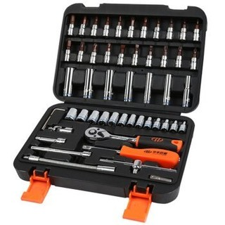 华丰巨箭 棘轮扳手套筒组套53件套 6.3mm系列汽修工具箱套装HF-81053A *2件