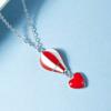 AITEKA 爱缇卡  SQ01 土耳热气球项链 (银色、红色)