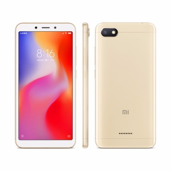 Redmi 红米 6A 4G手机 2GB+16GB 流沙金