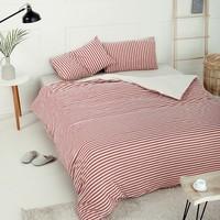 京造 全棉针织条纹四件套 1.8米床 +凑单品