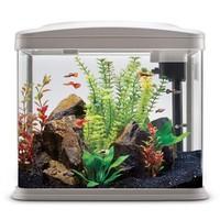 奇溢自然 热带鱼家用鱼缸带过滤LED灯金鱼家用鱼缸 32*19*29cm TL-328白色