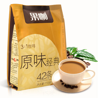 限地区 : FRUTTEE 果咖 经典原味三合一速溶咖啡 18g*24条 *10件