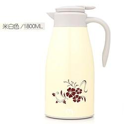 沐沫 不锈钢 保温热水壶1.8L (米白色1.8L)