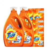 Tide 汰渍 全效洗衣液 3kg*2瓶+500g*6袋 *3件