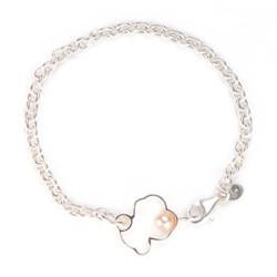 TOUS 桃丝熊 光影系列 713561500 925银珍珠手链