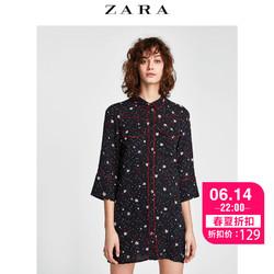 ZARA  女装 星星印花迷你连衣裙 02183042800