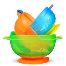 Munchkin 满趣健 麦肯齐吸盘碗婴儿碗防摔碗辅食碗3个装 *4件