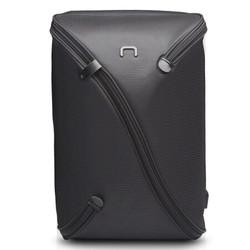 NIID UNO 一体成型双肩电脑背包 15英寸苹果联想笔记本 时尚运动休闲旅行男书包黑色