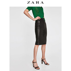 ZARA  女装 刺绣直筒裙 02398025800