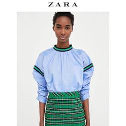 ZARA  女装 撞色罗纹装饰上衣 01971060400
