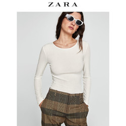 ZARA  女装 纹理 T 恤 05039032712