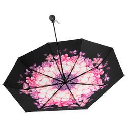 蕉下BLACK系列双层小黑伞防紫外线太阳伞女遮阳伞防晒伞 赤霞