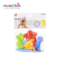 munchkin 满趣健 喷水海洋动物洗澡玩具 4只装