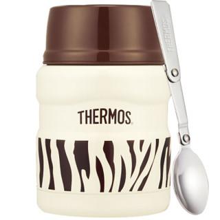 THERMOS膳魔师焖烧罐470ml高真空不锈钢食物罐SK-3000 ZWH(优雅斑马)