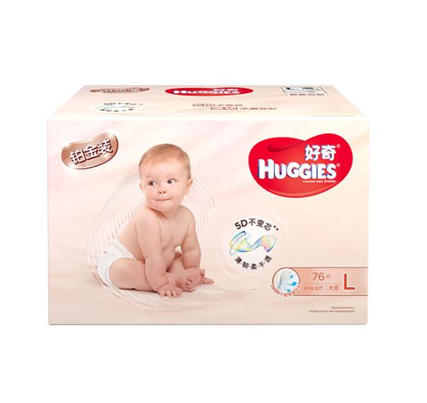 HUGGIES 好奇 铂金装 纸尿裤 (L、76片)