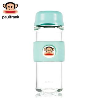 大嘴猴(Paul Frank)玻璃杯男女车载杯子商务办公茶杯直身水杯380ml薄荷绿PFD026