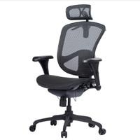 心家宜 M_806 金耀人体工学椅 黑色