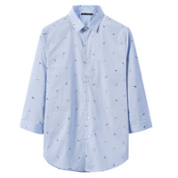 PEACEBIRD 太平鸟 B1CB62205 男士七分袖衬衫