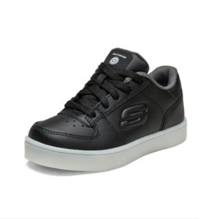 SKECHERS 斯凯奇 90601L 儿童休闲板鞋 (黑色)