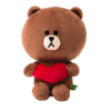 LINE FRIENDS 布朗熊 爱心款坐姿款 25cm