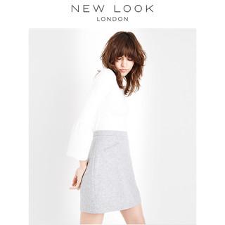 NEW LOOK女式包臀半身裙烟灰色A字裙|553529904