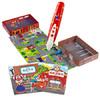 红袋鼠 我的城市系列 儿童点读笔 消防站 汽车主题拼图故事书 早教学习点读机益智玩具礼盒 158元