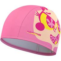 拓胜(TOSWIM)游泳帽男女长发舒适布泳帽正品时尚护耳不勒头成人泳帽 芭比