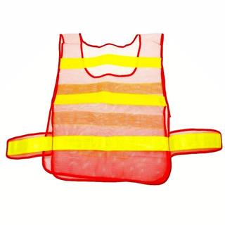 趣行 反光衣 反光背心 橘色网布汽车交通安全警示马甲 环卫施工执勤骑行安全服
